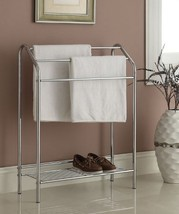 Chrome Finish Towel Bathroom Rack Stand Shelf - $50.64
