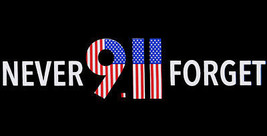 Wholesale Lot of 6 Never Forget 9.11 Black Decal Bumper Sticker - $13.88