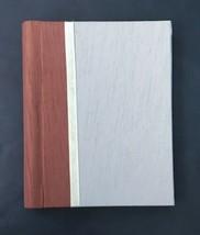 Clothbound Journal Gray Brown Velvet Ribbon Elegant Spiral Lined Pages D... - $14.84