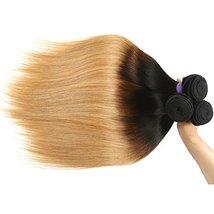Cranberry Hair Ombre Brazilian Virgin Hair Straight Hair Weave 24inch Bundle Thr image 5