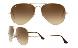 Ray Ban Aviator RB3025 001/51 55mm Small Size Sunglasses Gold With Brown... - $74.50