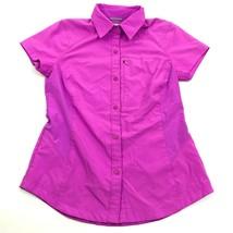 Columbia OMNI-SHADE Women's Button Up Shirt Size Small Zip Pocket SUN PR... - $15.14