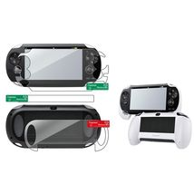 Clear Full Body Screen Protector+White Hand Grip For Sony Playstation PS... - $18.00