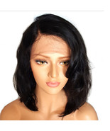 Curly Lace Front Wig Natural Loose Body Wave Meduim Bob Synthetic Hair Wigs - $49.99