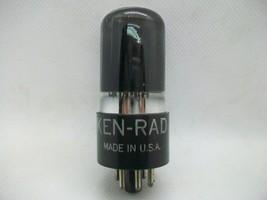 Vintage Ken-Rad/ GE 6V6 GT Black Glass Bottom Dimple D Getter USA Tested... - $12.60