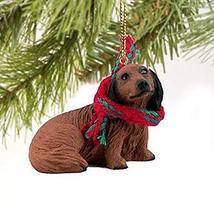 Dachshund Miniature Dog Ornament - Longhair - Red - $10.99