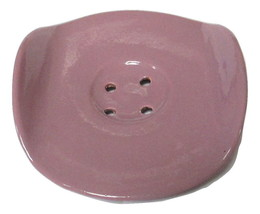 Pink Moroccan Soap Dish in Glazed Terracotta - $7.91