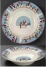 SNOWMEN Holiday Rim Soup Pasta Bowl (s) Blue Rim Cambridge Potteries - $9.99