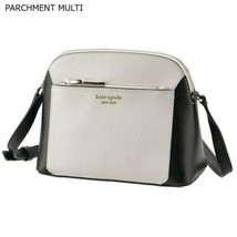 Kate Spade Shoulder Bag LOUISE White Tone Bicolor Logo Calfskin Leather ... - $270.00