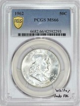 1962 Franklin Half Dollar PCGS MS-66; White; Looks FBL - $989.99