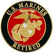 USMC RETIRED LOGO PIN - $4.94