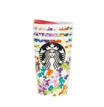 Starbucks Spring Pink Floral Band Ceramic Traveler Tumbler Coffee Cup 10 oz 2016 - $76.23