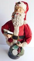 """Vintage Kurt Adler Fabriche Clothique Santa Claus Figurine 11"""" x 6"""" - $19.34"""