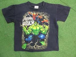 vintage spiderman versus Hulk yourth tshirt size XS  - $9.99