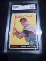 1958 Topps Eddie Yost GMA Graded 4.5 VG-EX+ baseball card number 173 - $9.99
