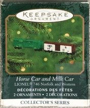 Hallmark 2000 Miniature Horse Car & Milk Car Lionel Keepsake Ornament - $9.95