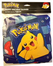 Pokemon Brand New 7.59 FT Happy Birthday Pikachu / Gen 7 Banner * Nintendo - $4.88