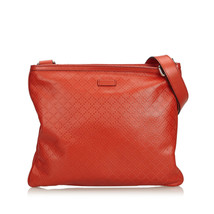 Pre-Loved Gucci Red Others Leather Diamante Crossbody Bag Italy - $475.74