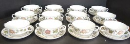 12 Royal Worcester Cream Soups - Virginia Pattern - $261.24