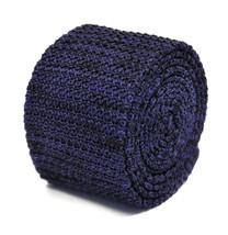 Frederick Thomas tachetée Violet & noir skinny laine tricot Cravate ft2201