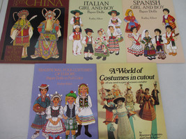Paper Doll Book Lot World Fashion Ethnic Costumes Dress Up Play Vintage   - $27.52