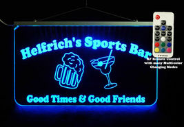 Custom LED Sign, Man cave sign with Beer Mug and Martini Glass - Home Bar image 3