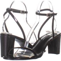 Nine West Proven Ankle Strap Block Heel Sandals, Black 911, Black, 9 US - $26.87