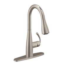 Moen Essie Single Handle Pull-Down Spray Kitchen Faucet w/ Voice Cntrl Stainless - $239.00