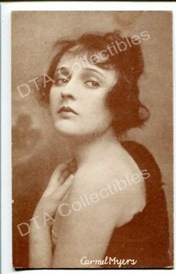 Primary image for CARMEL MYERS-BEAUTIFUL PORTRAIT-1920-ARCADE CARD G