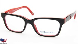 New Polo Ralph Lauren Pp 8524 1503 Black / Red Eyeglasses Frame 44-15-125 B29mm - $68.30