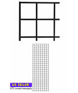 2 PACK New Retails Black Finish Wire Grid Wall Panel 2' x 6' *FAST SHIPP... - $58.36