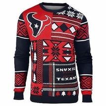 Laid Noël Pull NFL Houston Texans Texas Patchs Football Noël Ras Cou - $54.00+