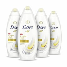 4 PACK DOVE BODY WASH FOR DRY SKIN EFFECTIVELY WASHES AWAY BACTERIA  - $49.50