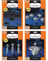 Large Halloween Hanging Outdoor Yard Decorations - Includes 17 Pieces - ... - $15.13