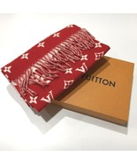 Supreme Louis Vuitton Red Scarf Monogram LV shawl with Box NEW - $2,718.05