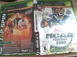 MicroSoft XBox NCAA Football 2005 & Top Spin Combo Pack image 1
