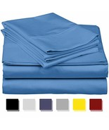 True Luxury 1000-Thread-Count 100% Egyptian Cotton Bed Sheets, 4-Pc Cali... - $124.43