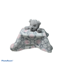 Blankets & Beyond Pink Gray White  Owl Bear Security Blanket Lovey  Soft... - $18.00