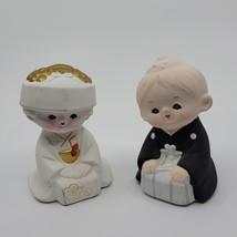 """Vtg Porcelain Bisque Figurines """"Lovely Doll Kawasaki Co Ltd """" Set Of 2 d... - $30.00"""