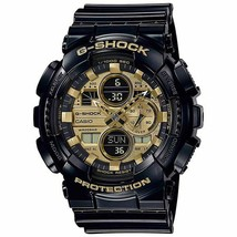 New Casio G-Shock Analog-Digital Black Resin Strap Mens Watch GA140GB-1A1 - $94.99