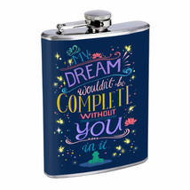Complete Dream Without You Em1 Flask 8oz Stainless Steel Hip Drinking Wh... - $13.81