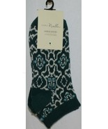Simply Noelle Dark Green Teal White Ankle Socks One Size Fits Most - $6.99