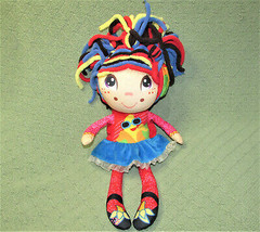 FLIP ZEE PRECIOUS GIRLS PLUSH STUFFED DOLL 2 In 1 JAY AT PLAY BLACK RED ... - $14.85