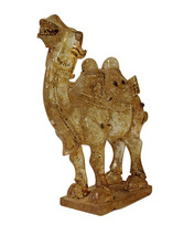 Chinese Clear Crystal Glass Vintage Dusty Finish Camel Figure cs3653 - $620.00