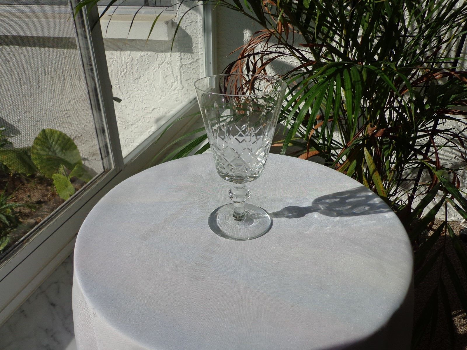 Small Clear Crystal White Wine Glass, Unbranded