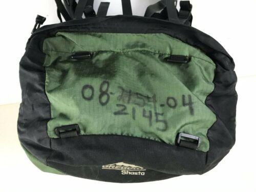 Gregory Shasta (S) Small Green Black Gray Hiking Trekking Backpack & Rain Hood