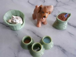 Loving Family Fisher Price Dollhouse Accessories- Dog & Cat Lot - $12.00