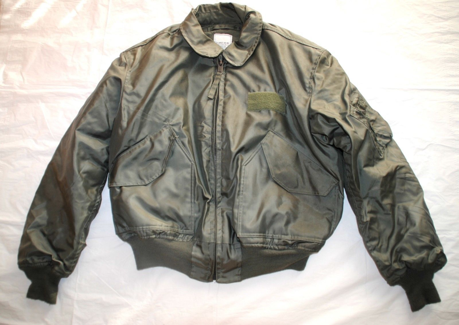 971e4130b0e S l1600. S l1600. Previous. USAF GREEN NOMEX FIRE RESISTANT COLD WEATHER  FLYERS JACKET CWU-45 P - X