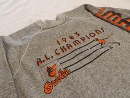 1983 Baltimore Orioles Sweatshirt AL Champions Vintage Baseball Orioles ... - $159.99