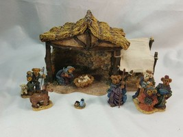 Boyds Bears Bearstone  Followin' Yonder Star Nativity Creche #2476 & #2477 PCEQ4 - $49.95
